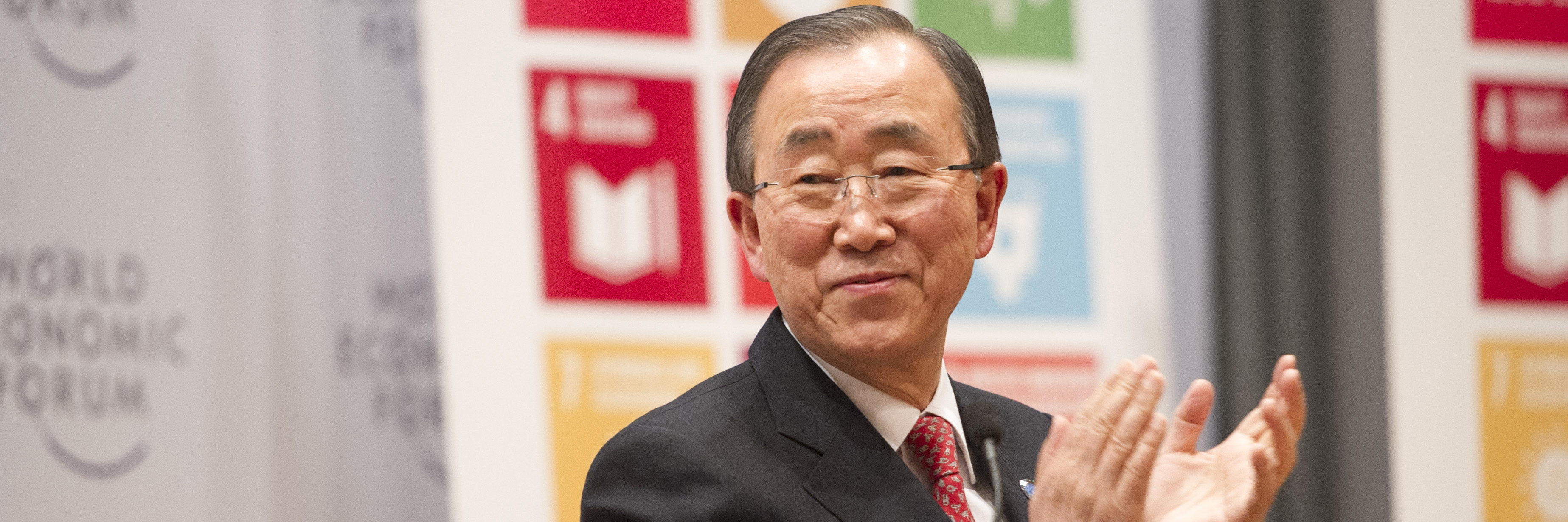 Secretary-General Ban Ki-moon attends launch of SDG Advocates at the WEF Open Forum