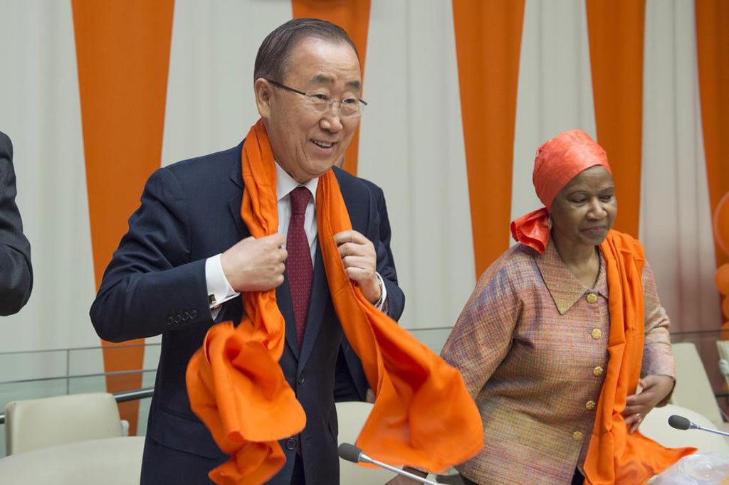 "special event entitled ""Orange the World: Raise Money to end Violence against Women,"" commemorating the International Day for the Elimination of Violence against Women (25 November). UN Photo/Eskinder Debebe"