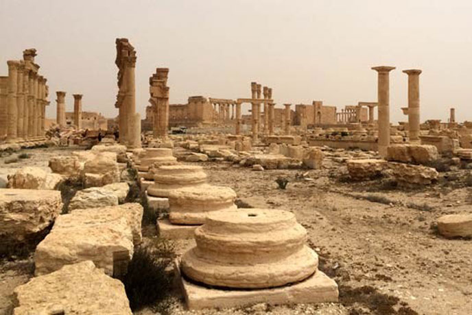 Destruction at the World Heritage site of Palmyra in Syria. (file) Photo: ©UNESCO