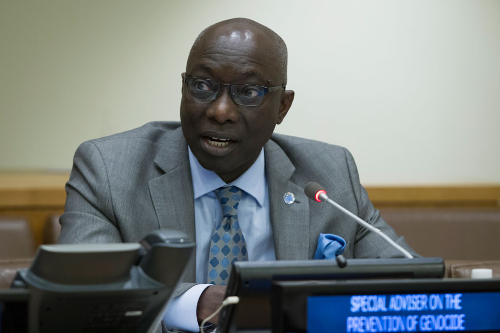 Special Advisor to the Secretary-General on the Prevention of Genocide Adama Dieng. UN Photo/Manuel Elias