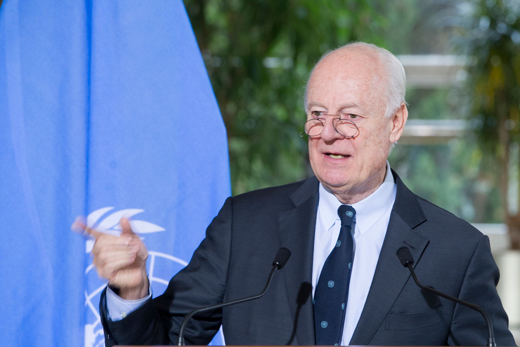 Special Envoy for Syria Staffan de Mistura. UN Photo/Violaine Martin (file)