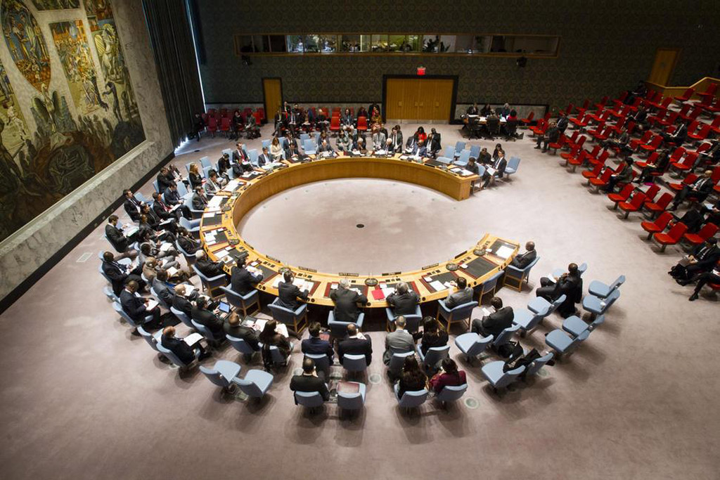 The Security Council observes a moment of silence for the victims of the 22 May terrorist attack in Manchester, United Kingdom. UN Photo/Eskinder Debebe
