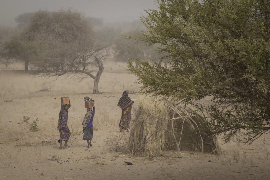 At the site for internally displaced persons (IDPs) in Mellia, Chad. Photo: OCHA/Ivo Brandau