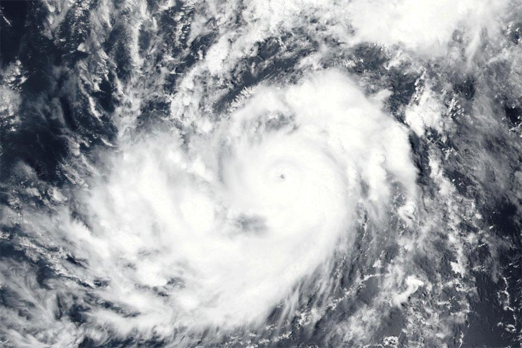 Satellite imagery of Hurricane Irma in the Atlantic Ocean. Source: NOAA