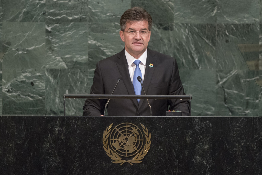 Miroslav Lajčák, President of the 72nd session of the General Assembly, addresses the annual general debate. UN Photo/Cia Pak