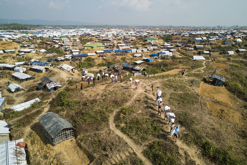 A total of 5,000 Rohingya refugees will be moved to the newly-opened site, part of a larger 3,000-acre piece of land known as Kutupalong Extension, in Bangladesh designated to host the new arrivals. Photo: UNHCR/Roger Arnold