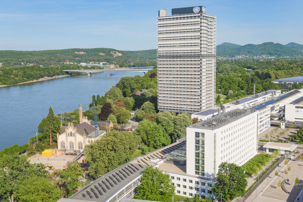 Aerial view of the Bonn Campus, Bonn, Germany. Photo: UNFCCC