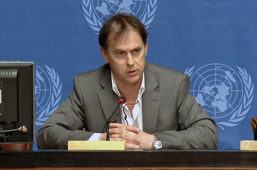 Rupert Colville, spokesperson for the UN High Commissioner for Human Rights (OHCHR). UN Photo