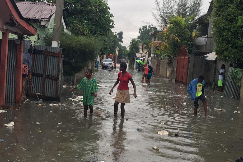 Damage caused by Hurricane Irma in Hinche, central Haiti. Photo: Marie Yolette Daniel